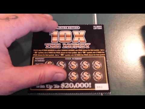 """NEW """"10X THE MONEY"""" SCRATCH-OFFS FROM THE IL. LOTTERY!!!"""