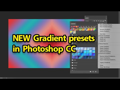 Photoshop : Gradient Presets 2020 New Feature Guide Tutorial