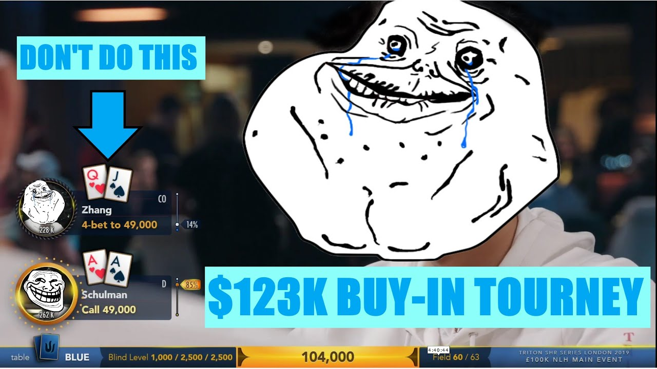 4-Betting Trash in a $123k Tournament | Not GTO Analysis