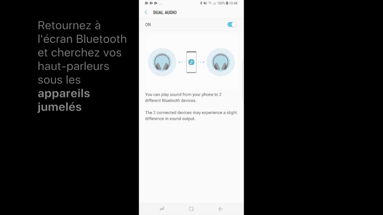 Jumeler un Samsung Galaxy S8 avec deux haut-parleurs Bluetooth en même temps