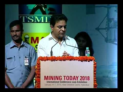 Minister KTR addressed in Mining Today 2018 International Conference-cum-Exhibition