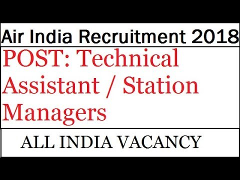Latest govt jobs | Job Vacancies  | Air India Recruitment 2018