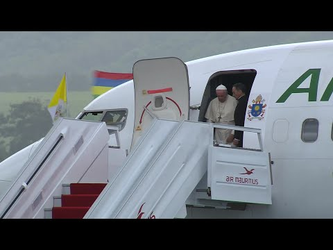 Pope arrives in Mauritius for the last stop of his recent Africa tour | AFP