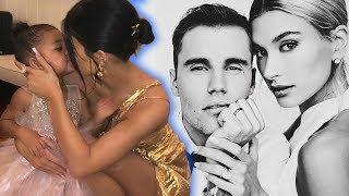 Stormi & Kylie Jenner Kiss & Dance At Justin Bieber Wedding