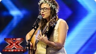 Abi Alton sings original song - Arena Auditions Week 2 -- The X Factor 2013