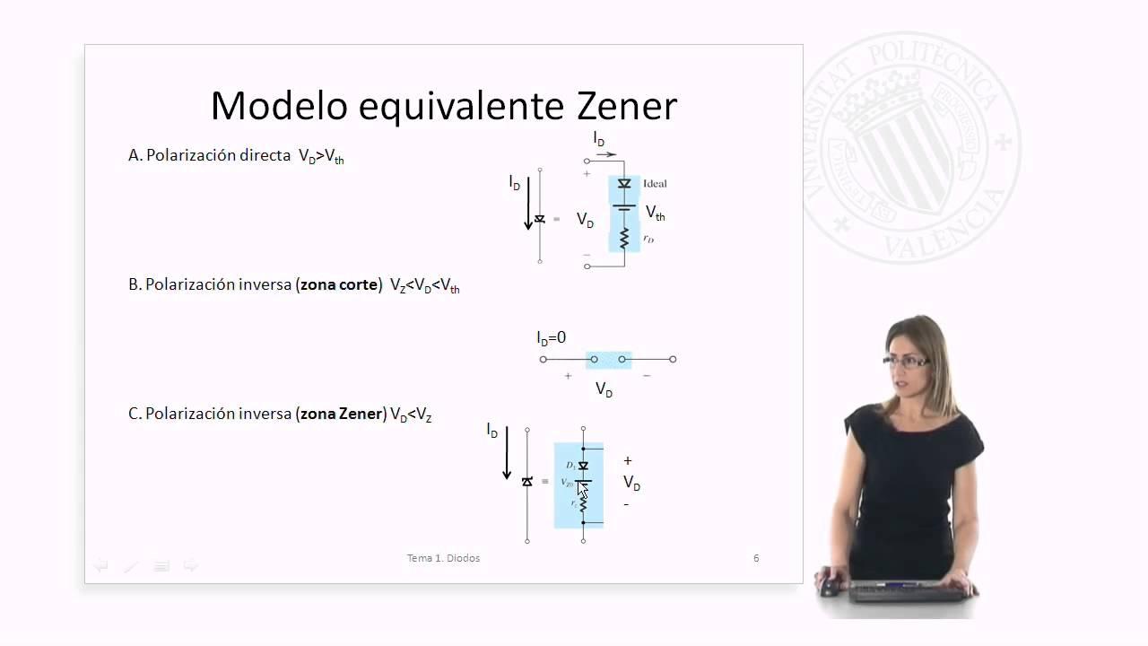 Circuito Zener : Polarización con diodo zener upv youtube