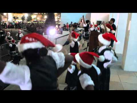 Bermuda Islands Pipe Band & Dancers At Tree of Lights - Lighting Ceremony November 25 2011