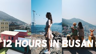 KOREA VLOG 4: 12 HOURS IN BUSAN (cable car, beautiful view & 168 stairs..)
