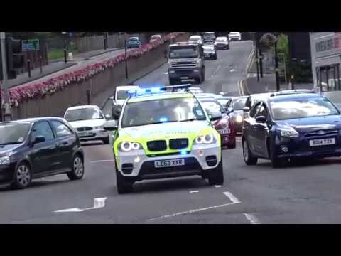 Police, Ambulance and Fire Brigade in action London 2017