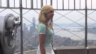 Exclusive: Peyton List Looks Over New York From The Empire State Building!