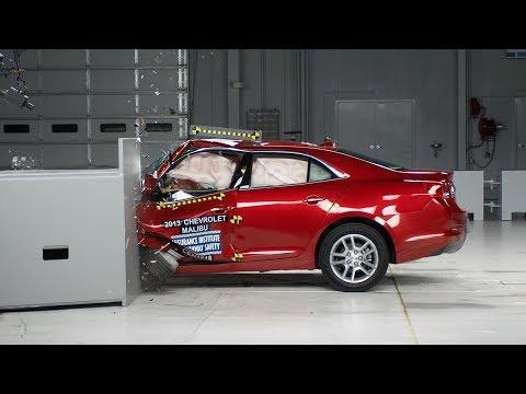 2013 Chevrolet Malibu driver-side small overlap IIHS crash test