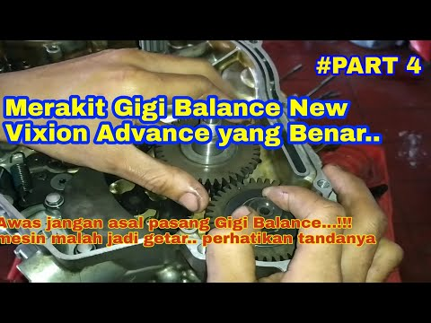 cara-memasang-gigi-balance-yamaha-new-vixion-advance