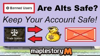 ~Are Alts Safe?~ (Avoid False Bans) Tips to Avoid a False Ban in Maplestory M (Maplestory Mobile)