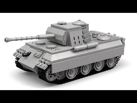 Lego WWII Panther Tank (Updated) Instructions + Parts List