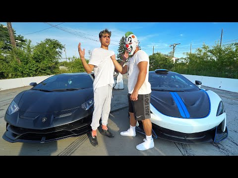 SCARY CLOWN RACED ME! (Lamborghini Aventador SVJ vs McLaren 600LT)
