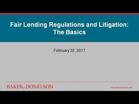 Fair Lending Regulations and Litigation: The Basics