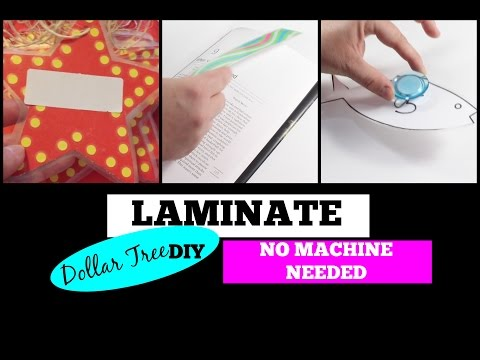 DOLLAR TREE DIY | HOW TO LAMINATE WITHOUT A LAMINATOR