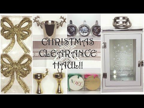 Christmas Decor Clearance Haul ♡ HomeGoods, TJ Maxx, World Market
