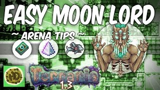 Terraria 1.3 Easy Moon Lord Arena Tutorial and Tips (1.3 bosses)