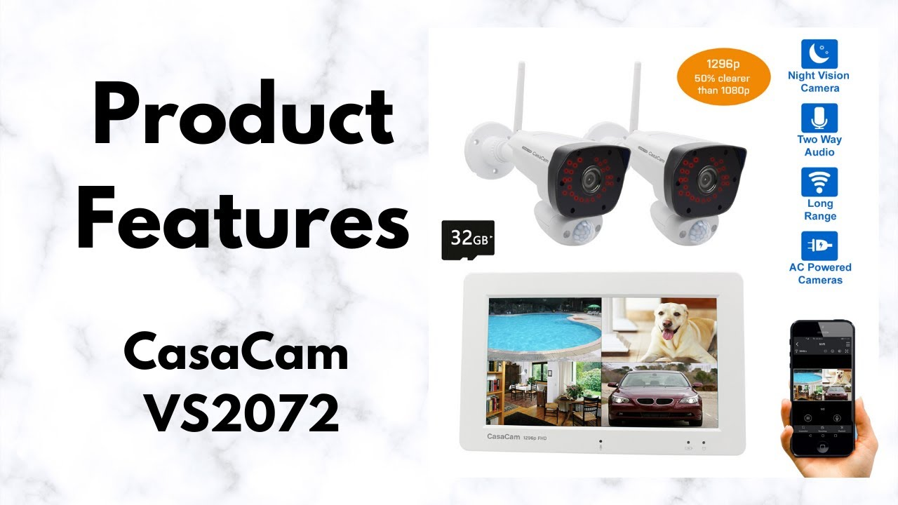 CasaCam VS2072 Wireless NVR Security System Product Features | 50% Clearer than 1080p