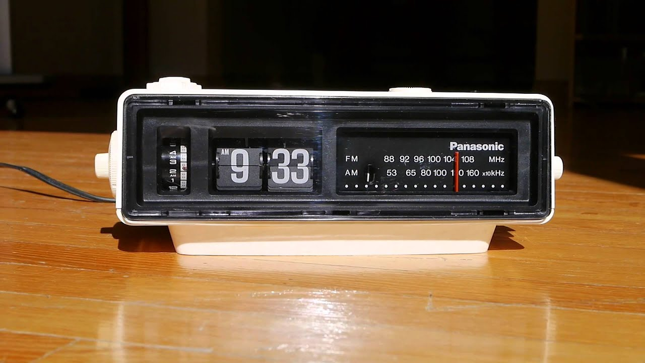 ec4266b3ef7ea Panasonic Ground Hog Day Movie Flip Clock Alarm Vintage Radio - YouTube
