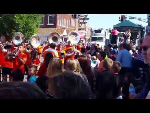 Cherokee Holiday Parade #4 Tahlequah High School Band- September 3, 2016 - Travels with Phil