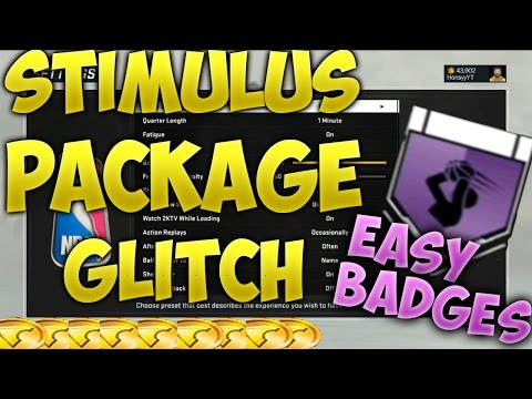 NBA 2K17 STIMULUS PACKAGE GLITCH!!! EASY VC, Badges & Upgrades!! 1 Min Qtrs in MyCareer!!