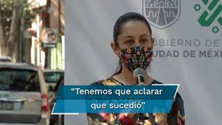 La jefa de gobierno de la Ciudad de México, Claudia Sheinbaum, informó que ya fueron detenidas las personas que abandonaron los medicamentos oncológicos