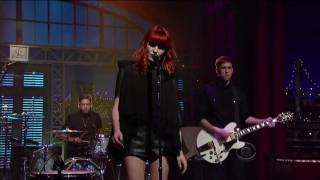 Florence And The Machine - Kiss With A Fist On Letterman 10-27-2009