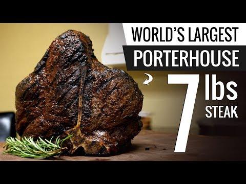 WORLDs LARGEST Bistecca Fiorentina Sous Vide - Porterhouse Steak T-Bone