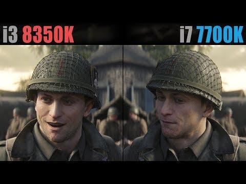 Call of Duty: WW2 i3-8350K vs. i7-7700K