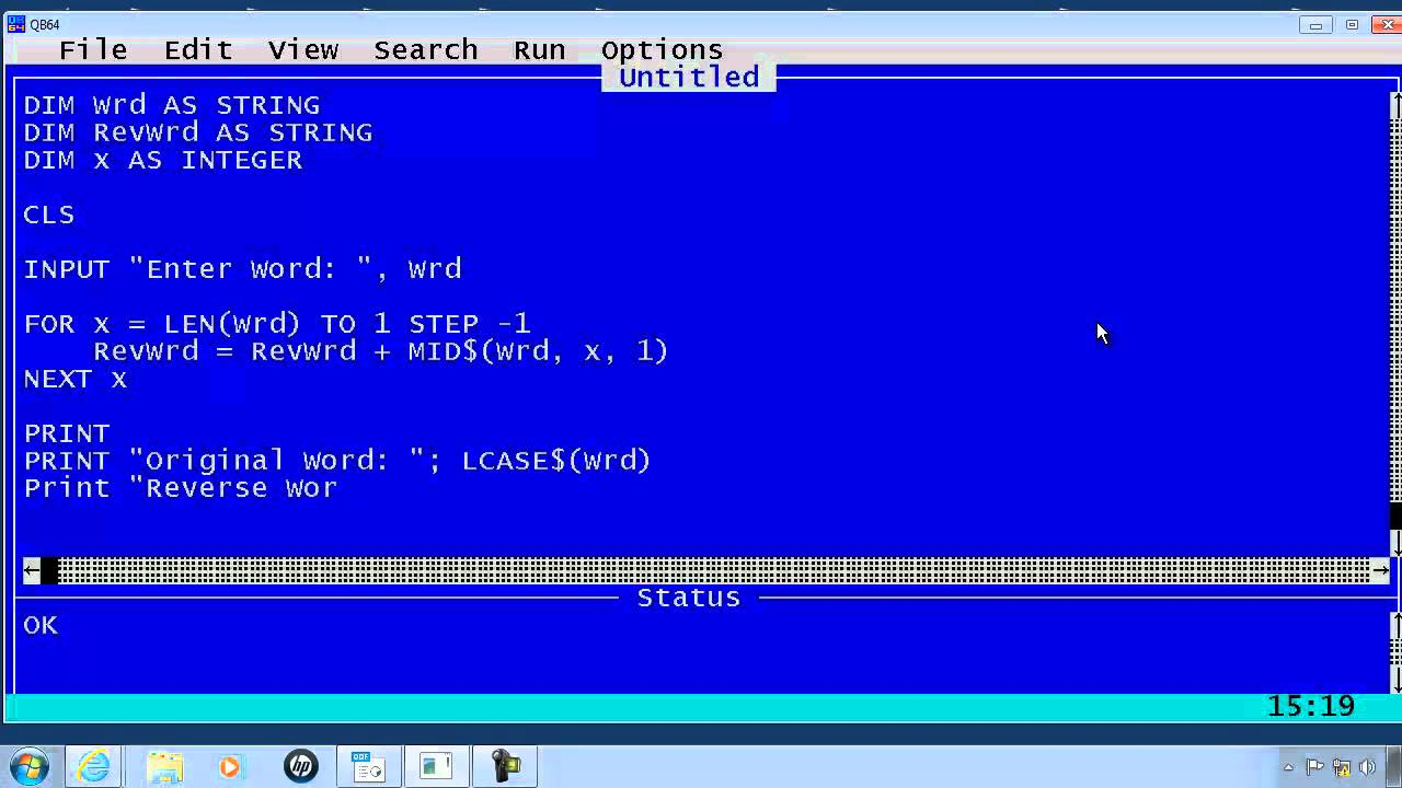 write a program to add two numbers in qbasic