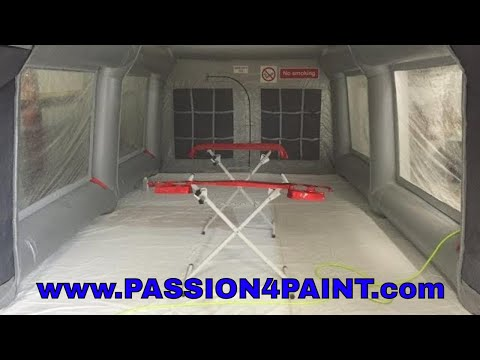 Carcoon Workstation - Spraybooth Review / Walkthrough and Demo