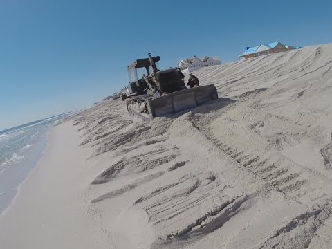 Mantoloking New Jersey Beach Replenishment Project Progress