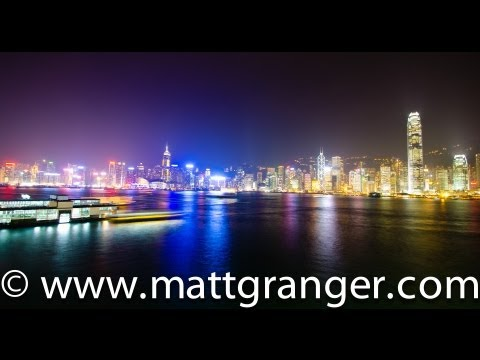 Hong Kong harbour night shoot (Ocean Terminal)