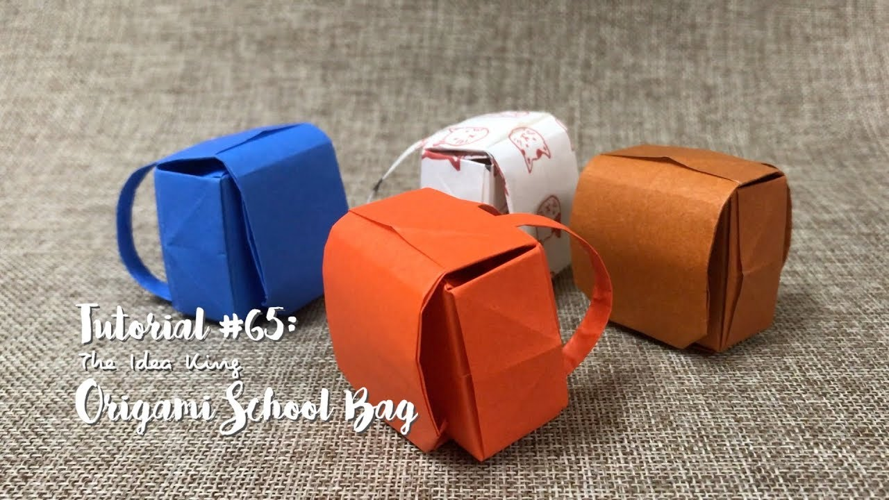 how to diy origami school bag the idea king tutorial