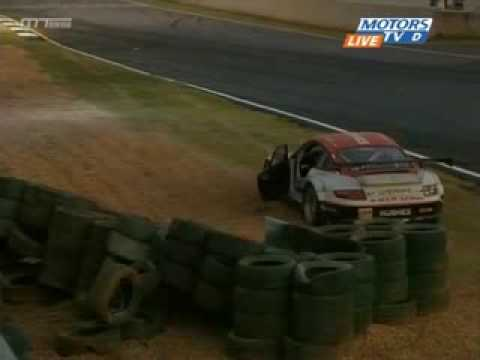 ALMS Petit Le Mans 2008 Marc Basseng Big Crash