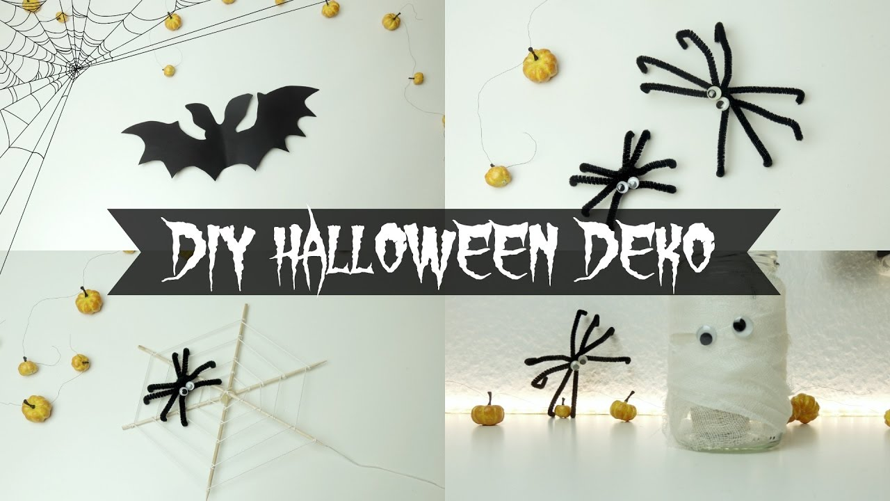 diy halloween deko i lastminute youtube. Black Bedroom Furniture Sets. Home Design Ideas