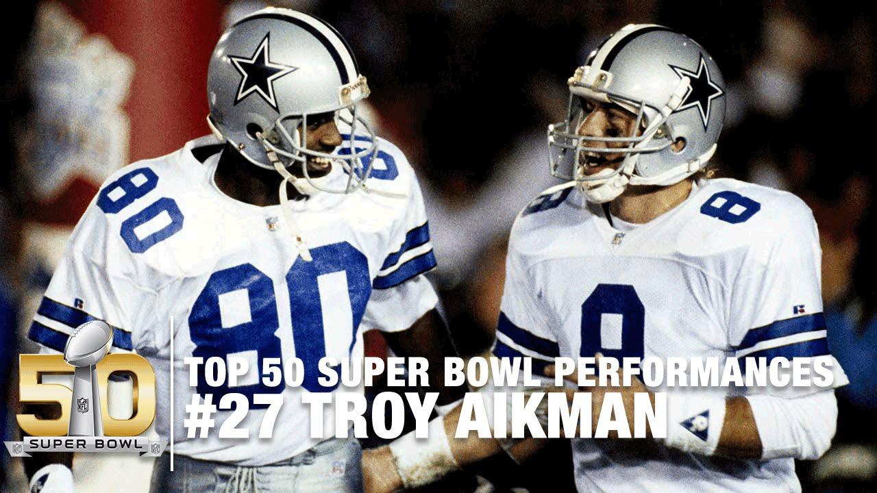 Nfl Bowl Top Performances Highlights Super Troy 27 Xxvii Aikman 50
