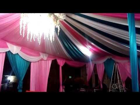 Cara pasang kain tenda dekorasi 2