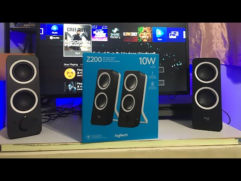 Logitech Z200 speaker's Unboxing/Review/Sound Test (Best BUDGET SPEAKERS $20)