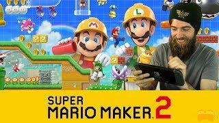 Super Mario Maker 2 (Nintendo Direct Reaction) // Super Expert Runs