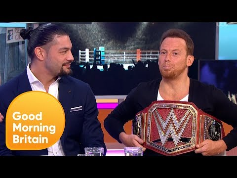 Joe Swash Tries to Take Roman Reigns' WWE Universal Champion Belt! | Good Morning Britain