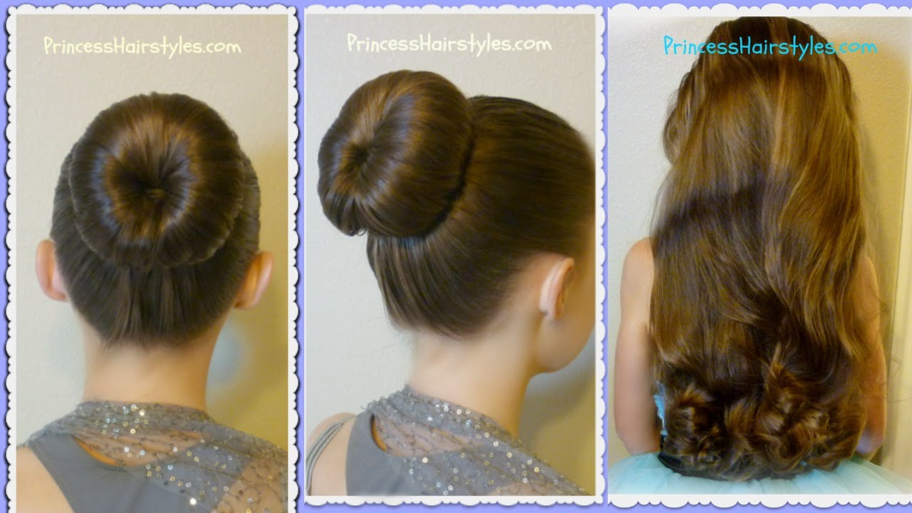The Perfect Bun And No Heat Curls Dance Hairstyle Tutorial Review Youtube