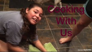 Cooking with no hands w/ Josie