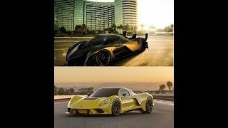 Fastest Cars in the world!!(2018)-Devil sixteen vs Hennesey venom F5 !!