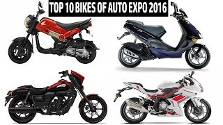Top 10 bikes of 2016 Auto Expo