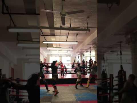 April 22nd sparring session