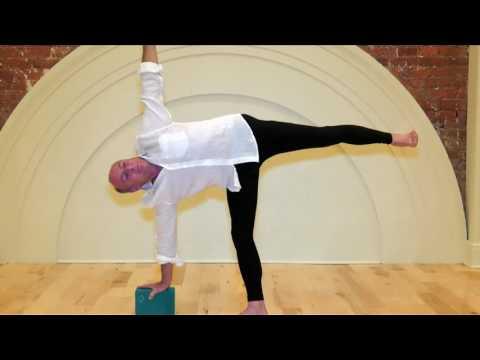 Jack Frank teaching Ardha Chandrasana (Half Moon Pose)