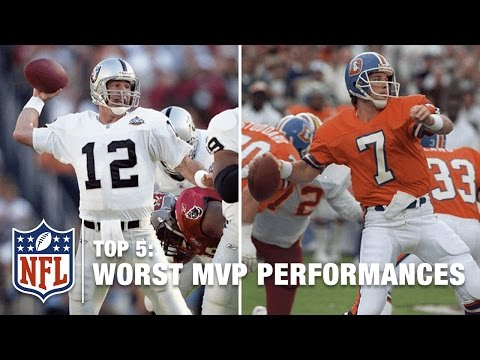 Top 5 Worst Super Bowl Performances by an MVP | NFL